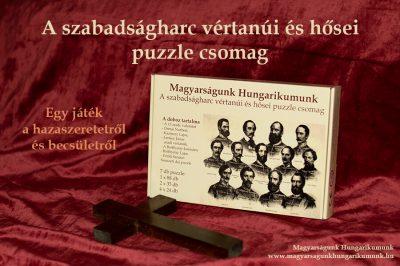 A szabadságharc vértanúi és hősei puzzle csomag, mely bemutatja az aradi vértanúk életét
