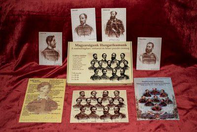 A szabadságharc vértanúi és hősei puzzle csomag tartalma